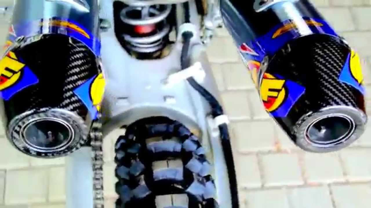 honda crf250r with fmf dual exhaust