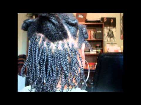 How To Do Two Strand Twists on Short to Medium Length Natural Hair ...