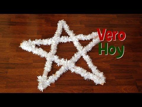 Diy como hacer una estrella de navidad youtube - Como hacer estrellas de navidad ...