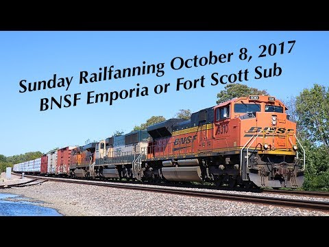 Sunday Railfanning on the BNSF Emporia and Fort Scott Sub on October 8, 2017