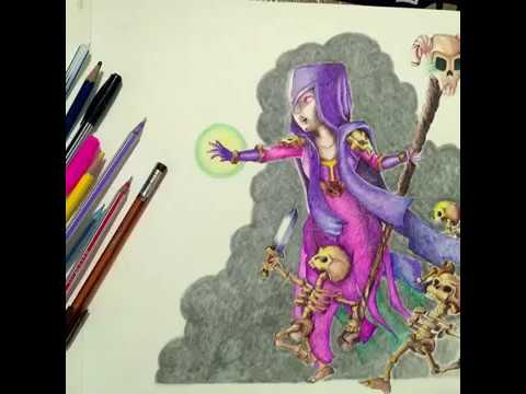 clash of clan drawing | witch | ballpen art