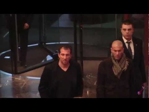 Zinedine Zidane visits Federation Tower in Moscow