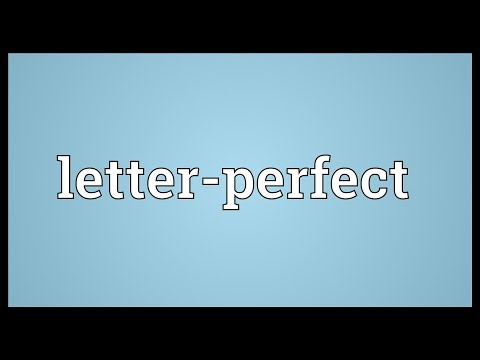 Header of letter-perfect