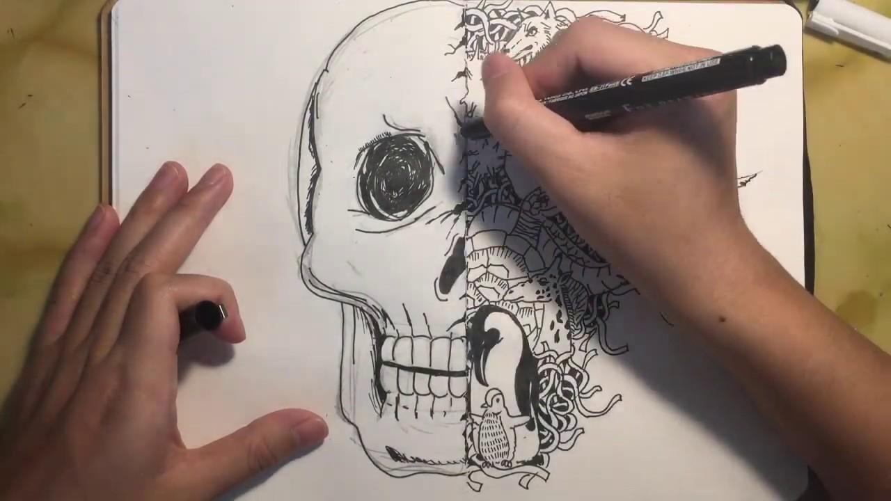 Vẽ Tranh Phòng Chống Corona | Coronavirus Awareness Drawing | Doodle Drawing Timelapse #Covid19