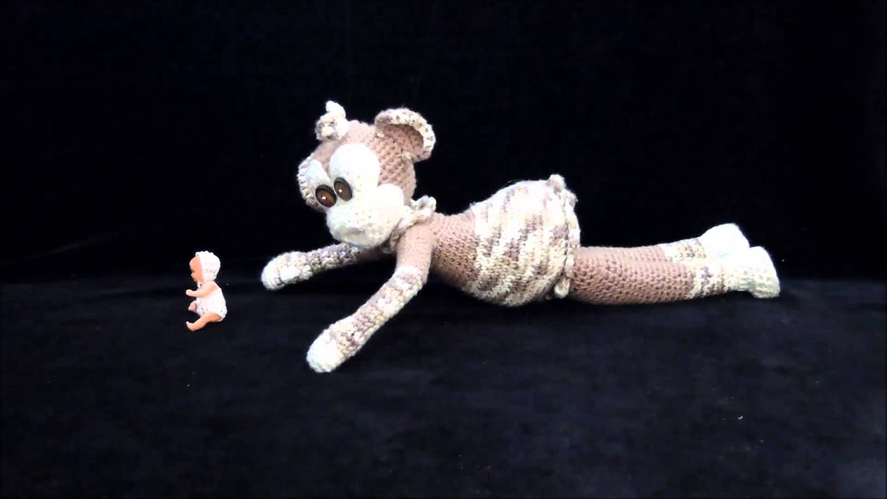 Gehäkeltes Affen Mädchen Mit Puppe Crochet Häkeln Youtube