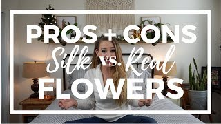 PROS + CONS: Silk vs. Real Flowers