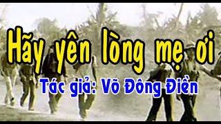 Karaoke vọng cổ HÃY YÊN LÒNG MẸ ƠI - KÉP