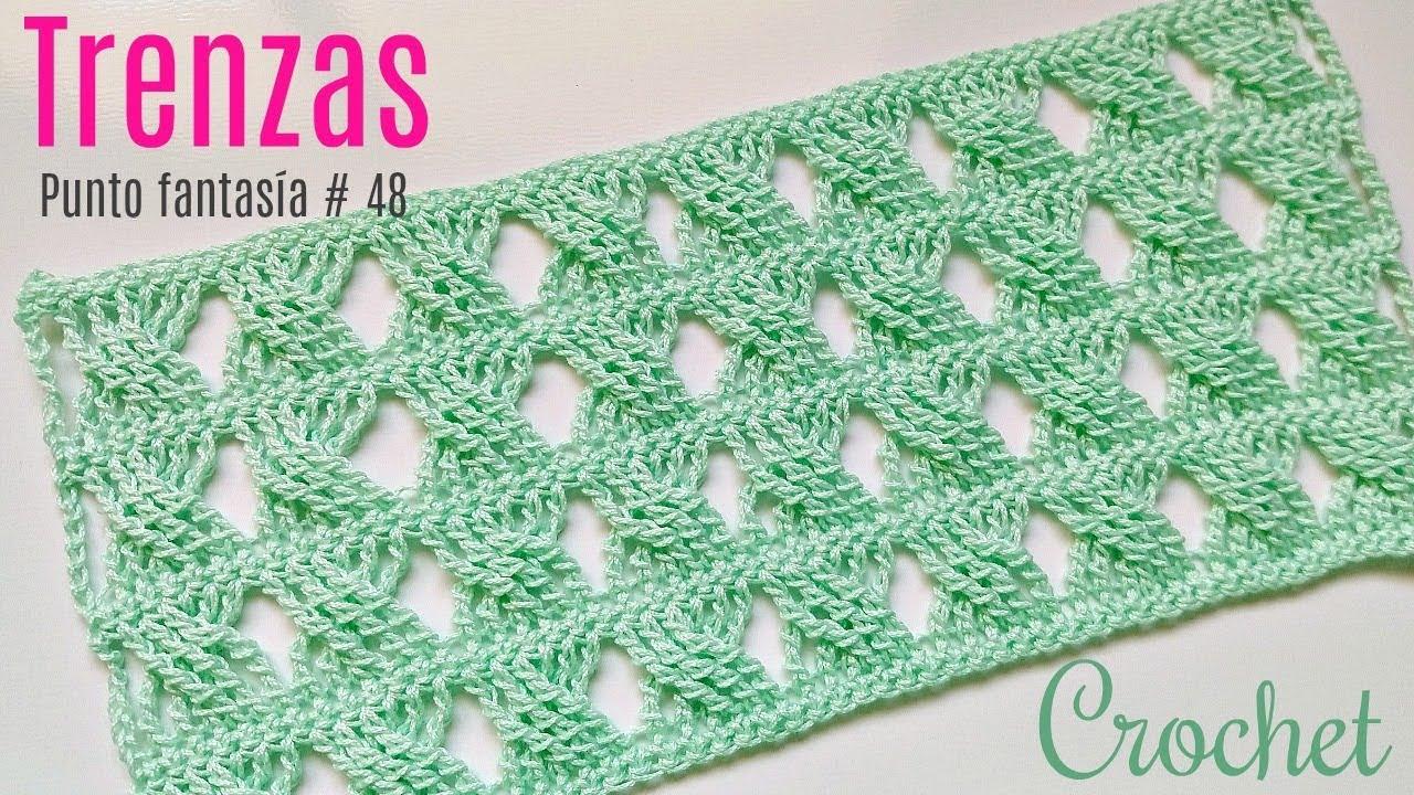 Trenzas A Crochet Punto Fantasia 48 Youtube