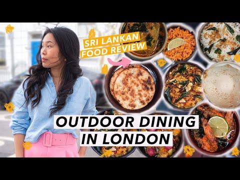 Eating Sri Lankan Food in London | Outdoor Dining Tour