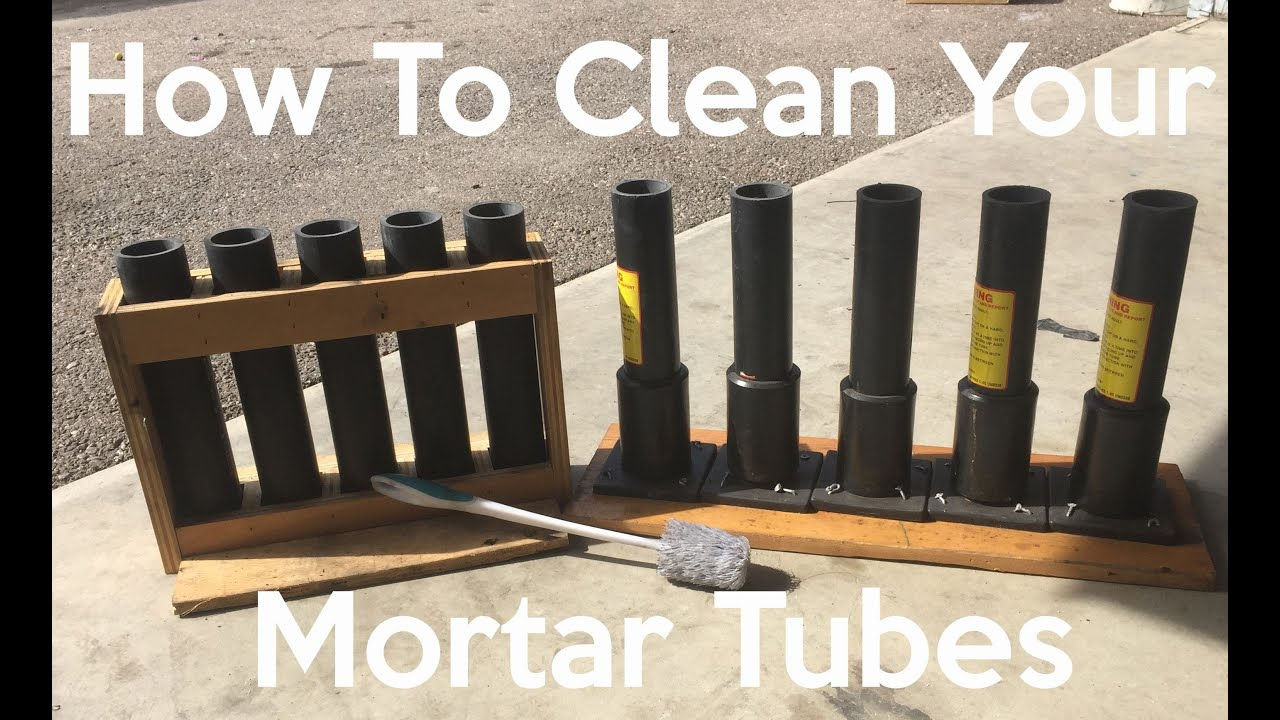 How To Clean Your Mortar Tubes - YouTube