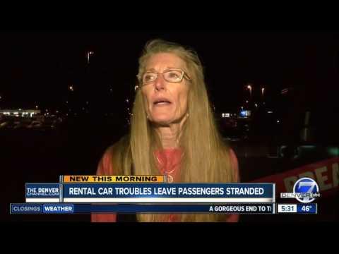 Advantage rental car customers stranded, told cars had hail damage