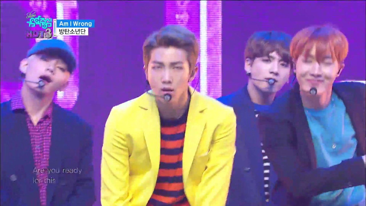 【TVPP】BTS - Am I Wrong, 방탄소년단 – Am I Wrong @Show Music Core