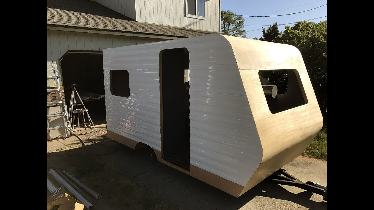 How To Build A DIY Travel Trailer - Part 33 (Installing the siding – Part 1)