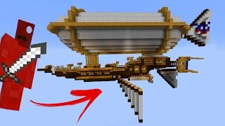 AIR SHIP CLAY SOLDIER BATTLE • Working Steampunk Ships! • Minecraft Clay Soldiers Mod!