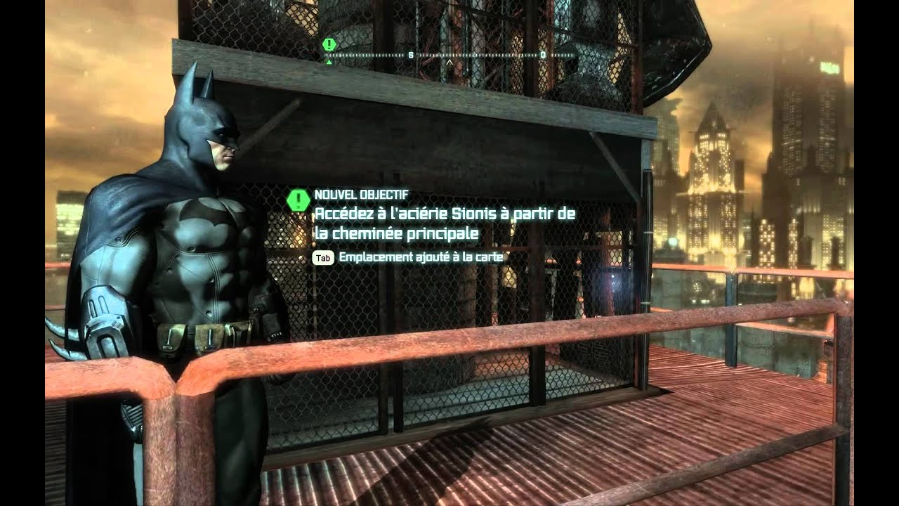 batman arkham city d couverte de la ville magnifique youtube. Black Bedroom Furniture Sets. Home Design Ideas