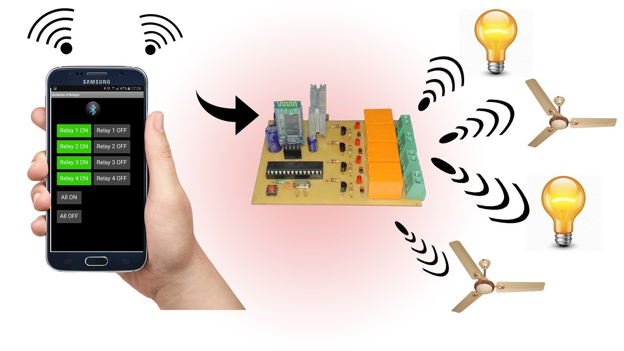 Bluetooth control ( Fan and Light ) using (android app)