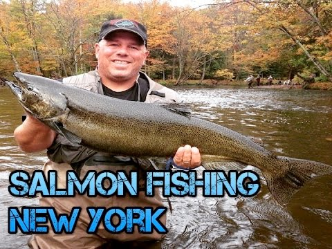 Salmon fishing pulaski ny 2012 youtube for Salmon river ny fishing