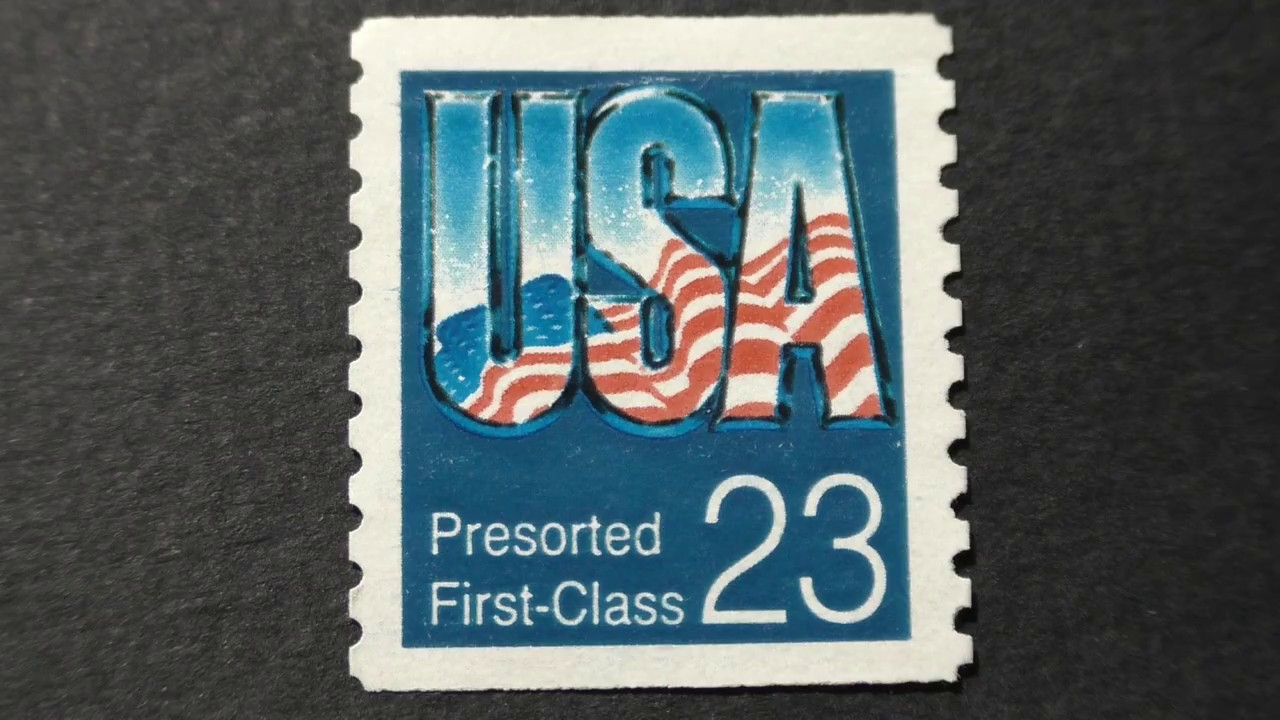 Postage stamp  USA  Presorted  First-Class  Price 23 cents