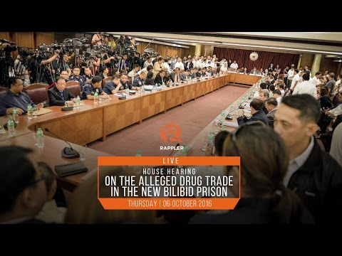 LIVE: House hearing on alleged Bilibid drug trade, 06 October 2016