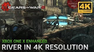Gears of War 2 - Xbox One X Enhanced - River Gameplay in 4K Resolution! (NO Ultimate Edition)