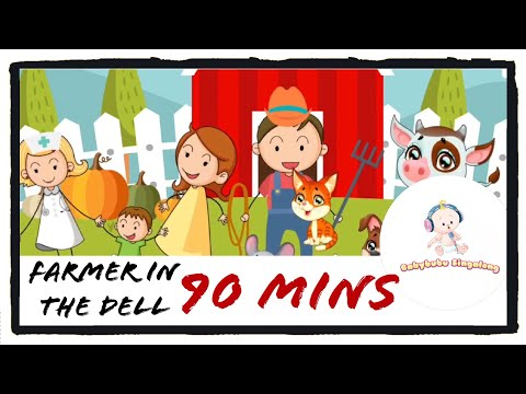Farmer in the dell loop - 90 mins of Non Stop Nursery Rhymes With Lyrics