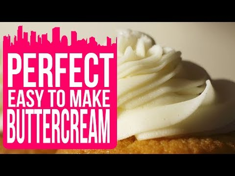 How To Make Perfect Buttercream Frosting / Icing Recipe Without Milk - Cake Craft City