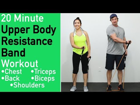 20 Minute Upper Body Resistance Band Workout 8 Best Band Exercises For Upper Body