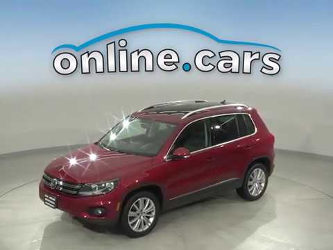 C15600RT Used 2014 Volkswagen Tiguan Maroon Test Drive, Review, For Sale
