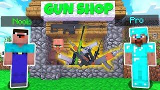 MINECRAFT BATTLE NOOB vs PRO GUN SHOP Challenge - Minecraft Animation