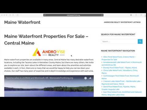 Maine Waterfront Listings