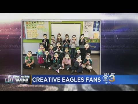 Springfield Literacy Center Students Show Creativity As Eagles Fans