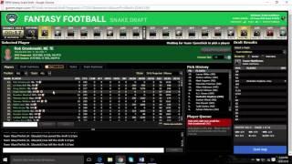 2016 FANTASY FOOTBALL MOCK DRAFT (PPR 12 TEAM)