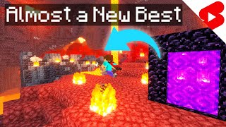 I Almost got a New Personal Best Minecraft Speedrun