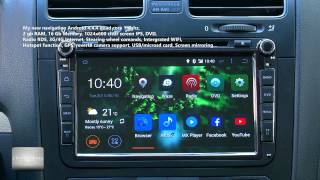Top quality new Quad core Android 4.4.4 kitkat navigation for Volkswagen, Skoda, Full review. PART 1