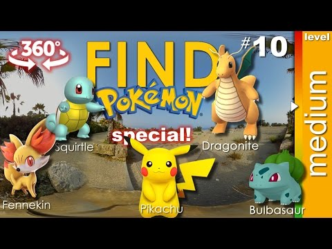SPECIAL #1: Find 5 Pokemon + secret one (medium) - Pokemon GO VR 360 video. Game 10