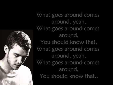 Justin Timberlake - What goes around (lyrics on screen)