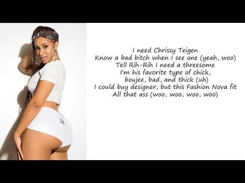 Cardi B Yg She Bad Lyrics Youtube