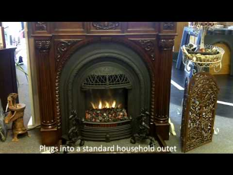 WINDSOR electric fireplace offers vintage style in a fireplace for any room. Includes heater and remote control. Use with a mantel to create a fireplace