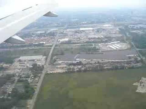 Landing by jetplane in Columbus, Ohio