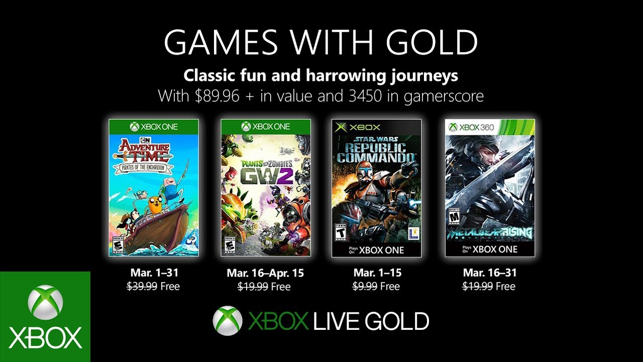 Xbox March 2019 Games With Gold Youtube