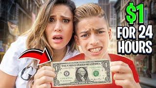 SURVIVING 24 Hours With $1 DOLLAR ONLY! (BAD IDEA)  The Royalty Family