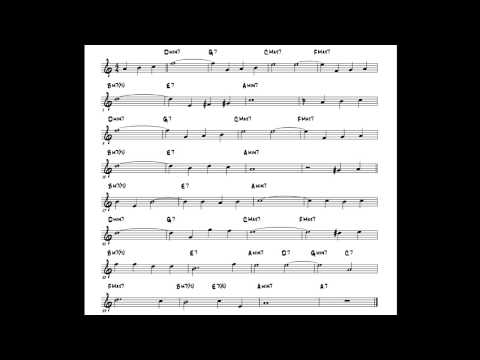 Autumn Leaves Play along - Backing track (Bb key score trumpet/tenor sax/clarinet)