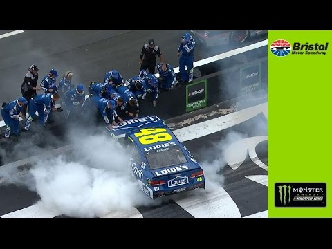Jimmie Johnson earns second straight '17 win with Bristol victory