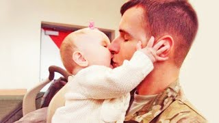 Really Happy Babies Reactions When Daddy Comes Home - Funny Baby And Daddy