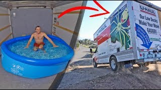 MOVING TRUCK TURNED INTO PORTABLE SWIMMING POOL! (OFF ROADING)