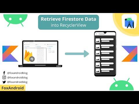 Firestore Data to Recyclerview using Kotlin | How to Retrieve Firestore DatatoRecyclerview
