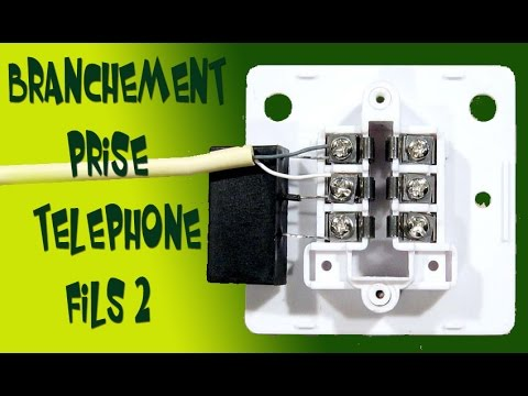 branchement prise telephone 2 fils youtube. Black Bedroom Furniture Sets. Home Design Ideas