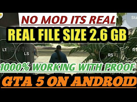 How To Download GTA 5 V On Android Real Game |Real Size [2.6 GB] Link In Description!