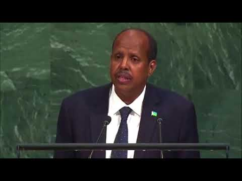 Djibouti Foreign Minister Mahamoud Ali Youssouf Talking about Rohingya in UN General Assembly