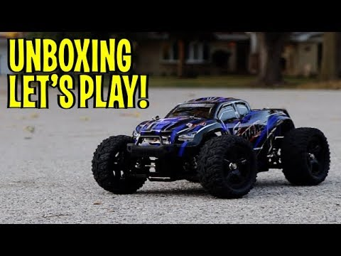 Unboxing Lets Play Rc Off Road Monster Truck 1 16 By Cheerwing Youtube